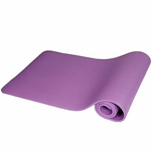 Yoga Mat 10mm Thick Exercise Fitness Physio Pilates Gym Mats Non Slip Carrier