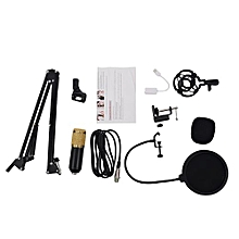BM800 Condenser Microphone Kit Studio Suspension Boom Scissor Arm Sound Card Black