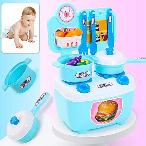 Braveayong Children Gift Play Kitchen Set Kids Pretend Toy Cooking Food Toys Educational Multicolor