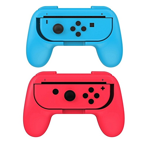 2Pcs Joy-Con Controller Grips Handle for NS Nintend Switch Anti-Slip  Gamepad Stand Holder With Retail Package Gaming Accessories FCSHOP