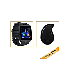 DZ09 - 1.56 Smart Watch - 0.3MP Camera + Mini Earphone Headset - Black