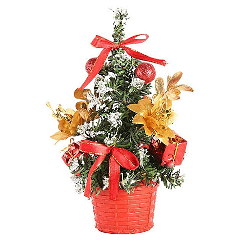 Generic Artificial Tabletop Mini Christmas Tree Decorations Festival Miniature Tree 20cm