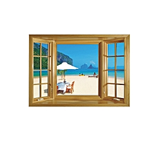 3d Simulation Window Self-adhesive Wall Paste Living Room Bedroom Background Waterproof and Beautifying Decorative Pvc Wall Paste