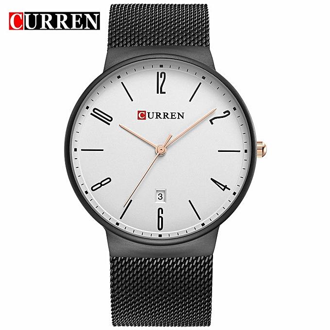 7366807c787 Curren Watches Men s Luxury Brand Date Stainless Steel Mesh Bracelet Quartz  Analog Mens Fashion Watch Sport