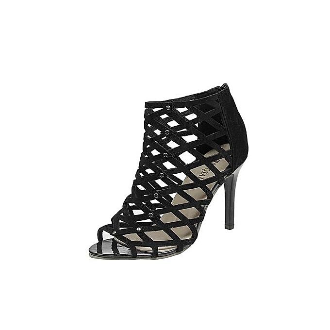 4858dbe5c Bliccol High Heel Shoes Women's Fashion Peep Toe High Heels Shoes Rivet Roman  Gladiator Sandals-
