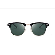 Refined  Men's Fashion Retro Driving Mirror / Polarized Sunglasses-blackish Green