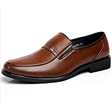 Fashion Mens Brown Oxford Shoes Leather Work Business Dress Loafers