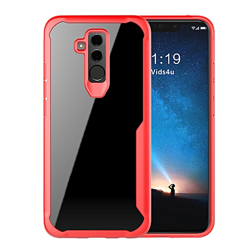premium selection b2035 033bc Huawei Mate 20 Lite/Awn 7 Transparent Case PC And TPU Phone Back Cover - Red
