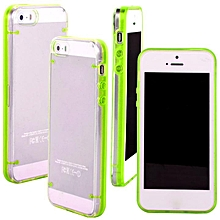 Ultra Thin Transparent Crystal Clear Hard TPU Case Cover For iPhone 5 / 5S-Green