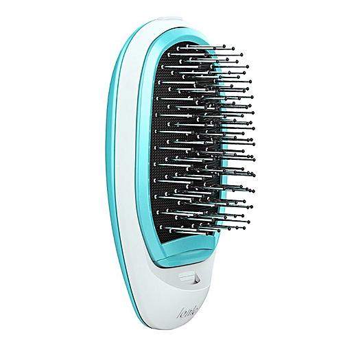 Lonic Electric Hairbrush Portable Electric Lonic Hairbrush Negative Ions  Hair Comb Brush Hair Modeling Styling Magic Hairbrush(GREEN)