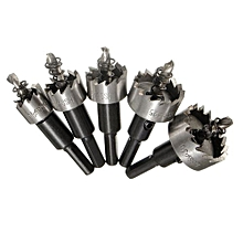 5PCS HSS Drill Bit Hole Saw Tooth Set Stainless Steel Metal Alloy Cutter 16-30mm