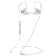 H3 Bluetooth V4.1 Noise Isolation Sports Waterproof Earphones Headphones With Mic(WHITE)
