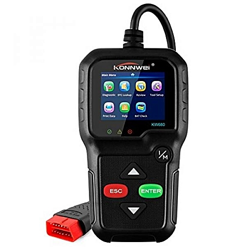OBD ii Car Code Reader, Check Engine Light Diagnostic Tool KW680 OBDII OBD2  Code Scan tools Read/Clear Engine Fault Codes Scanner HonTai