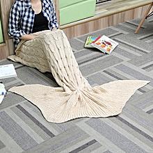 60x160cm 3 Color Yarn Knitting Mermaid Tail Blanket Warm Super Soft Bed Mat Sleep Bag Birthday Gift