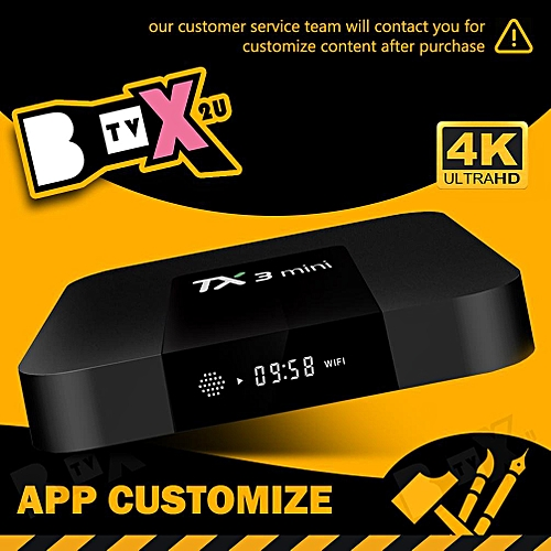 10k+ Movies & Channels TX3Mini 2GB 16GB Android 7 1 Android tv box ( IPTV  TVBOX tx3_mini Android box tv box ) (App Customize)