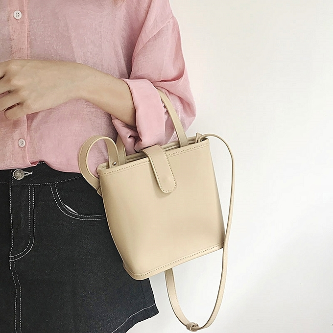 ... handbag shoulder inclined Ku women s bag · The rice is apricot2018  spring the summer is new style of Korean ins style Chien about b82668d67eaff