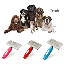 Pet Dog Cat Shedding Grooming Anti-Static Hair Fur Brush Needle Comb Rake Tool -Random