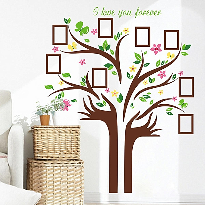 generic family tree wall decal sticker removable picture frame photo