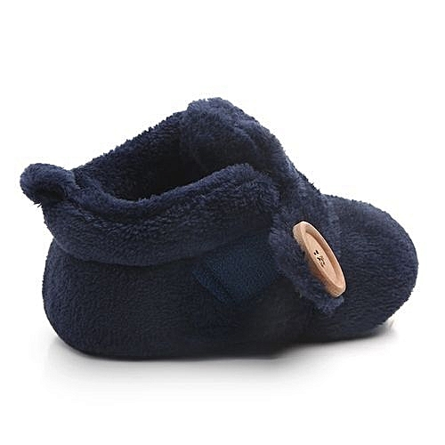 b2f6edb06e1a YiQu bluerdream-Lovely Toddler First Walkers Baby Shoes Round Toe Flats  Soft Slippers Shoes - Blue
