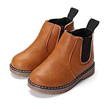 Winter Children kids Martin Boots Snow Baby Shoes Toddler Boys Girls Boots Brown-EU