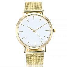 Fohting  Vansvar Casual Quartz Stainless Steel Band Marble Strap Watch Analog Wrist Watch -Gold