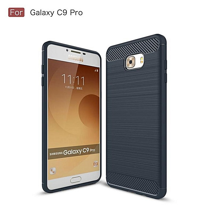 For Samsung Galaxy C9 Pro Carbon Fiber Shockproof Case With HD Full Coverage .