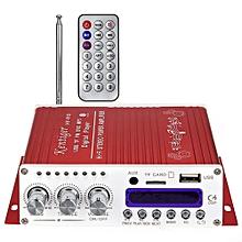 Kentiger V10 Bluetooth Hi-Fi Class-AB Audio Power Amplifier-RED