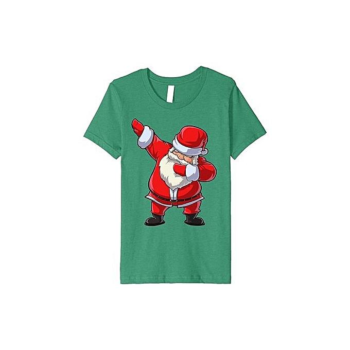 f56b99e447 Men's Summer Fashion T-shirt Santa Claus Dabbing T Shirt Christmas Funny  Dab Dance Gifts