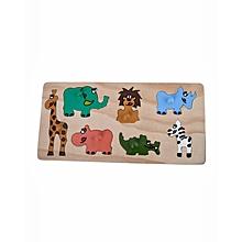 Puzzle - Seven Wild Animals - Multicolor
