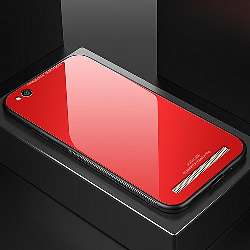 pretty nice 9acb5 58f47 Glass Case For Redmi 5A Cover Full Protection Tempered Glass Back Cover  Casing For Xiaomi Redmi 5A Housing