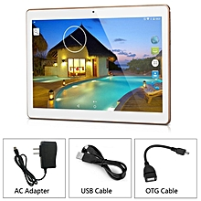 HP-10.1inch Octa Core 4G/64G MTK6592 3G Call Wifi GPS Dual SIM Dual Standby Tablet champagne golden
