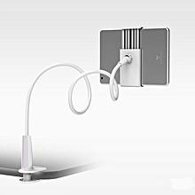 Lazy Phone Holder 360 Degree Flexible Rotate Tablet Mount Bracket white