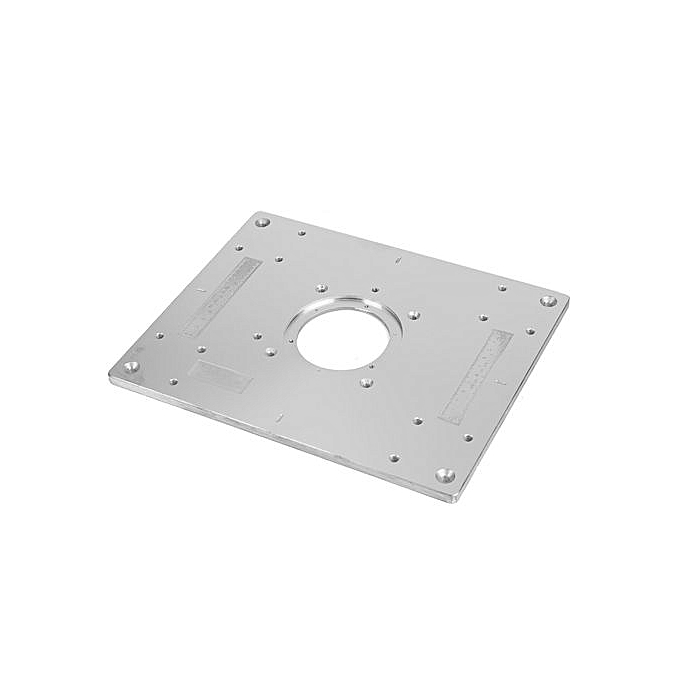 Aluminum Plunge Router Table Insert Plate w/ Ring For DIY Woodworking Work  Bench