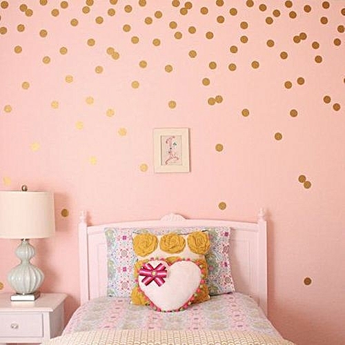 Buy Generic Home Living Room Bedroom Wall Sticker Gold Plated Round ...