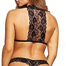 Women Sexy Lace Briefs Temptation Babydoll Racy Sleepwear Set Underwear+Thongs L