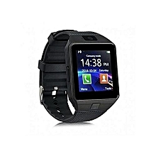 Touch Screen Bluetooth Smart Watch Phone DZ09 -  Black
