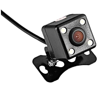 in-vehicle cameras Car CCD Reversing Track Rear View Camera Parking Monitoring LED Light-black