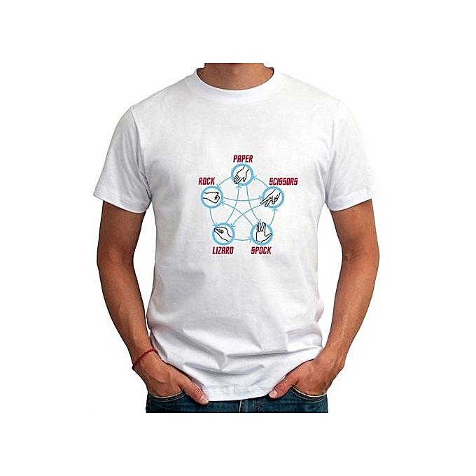 afdb0c582 Summer Novelty Funny T Shirt For Man Rock Paper Scissors Lizard Spock Men T- Shirt