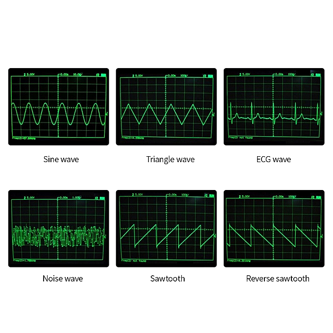 DDS Function Low Frequency Signal Generator  Sine/Triangle/Square/Sawtooth/ECG/Noise Output 1Hz~65534Hz Frequency  Amplitude