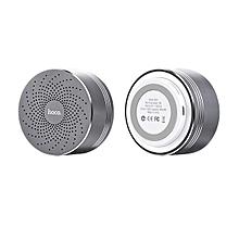 HOCO BS5 Swirl Wireless Speaker Support Hands-free Mic / TF Card / Aux-in-Grey LBQ