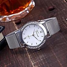 Fohting  Vansvar Casual Quartz Stainless Steel Band Newv Strap Watch Analog Wrist Watch -Silver