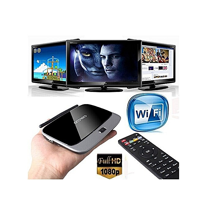 CS918 RK3188 Quad Core Android 5 1 2G RAM + 8G ROM 1080P HDMI Smart TV Box  (Black) YCMI-A