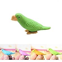 1PCS Novelty Cute Parrot Pencil Eraser Set Stationery Kids Children Gifts