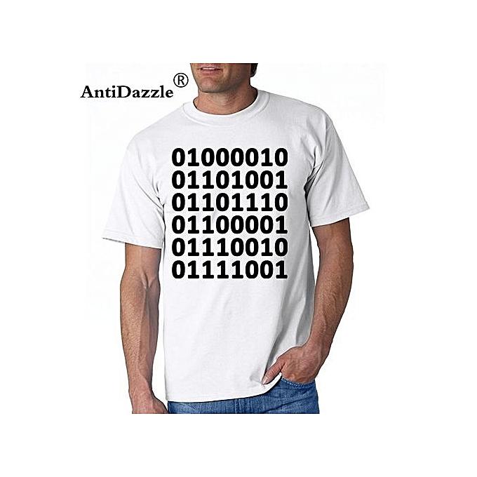 a32aa39e T-Shirt Novelty Binary Funny Computer Programmer Math Adult Unisex Mens T- Shirt Black