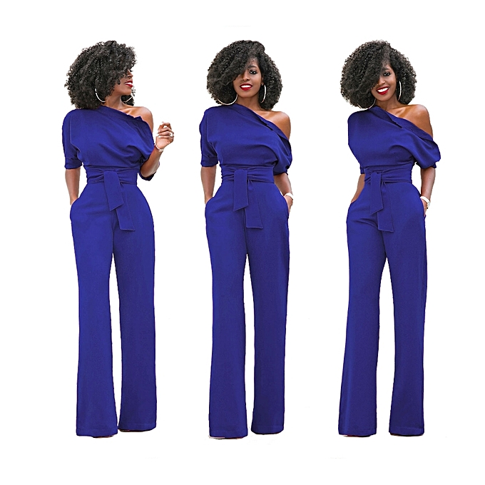 8c5f21230305 New Women Off The Shoulder Elegant Jumpsuits Women Plus Size Rompers Womens  Jumpsuits Short Sleeve Female