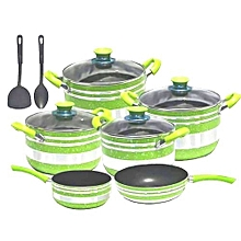 10pcs Quality Green Nonstick pots