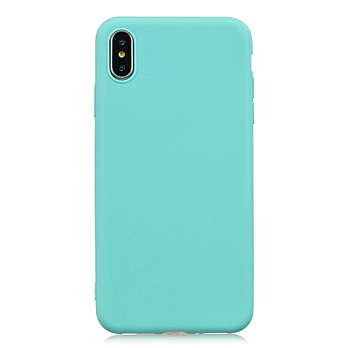 half off f9a7b 364e5 for iPhone XR case Candy Color Case iPhone Matte Soft TPU Case on iPhone  Full Cover Squishy Case-Sky blue