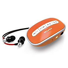 Awei Sport Wireless Headset In Ear Earphone Bluetooth Wireless Headset For Your Phone In Ear (Orange)
