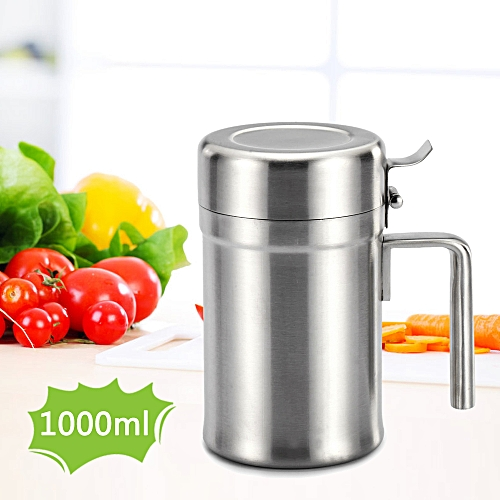 Generic Stainless Steel Oil Dispenser Oil Pot Olive Oil Can Edible