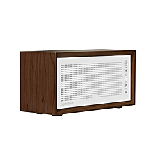 HARMONY: Brown Promate Wireless Bluetooth Speaker, Portable Hi-Fi Stereo Speaker with 10W HD Sound Quality, Built-In Mic, FM Radio, Micro SD Card Slot, USB Input and AUX Line-In for iPhone X, Samsung S9 and S9+